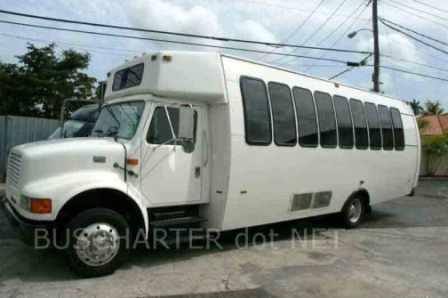 27 passenger minibus for rent - charter